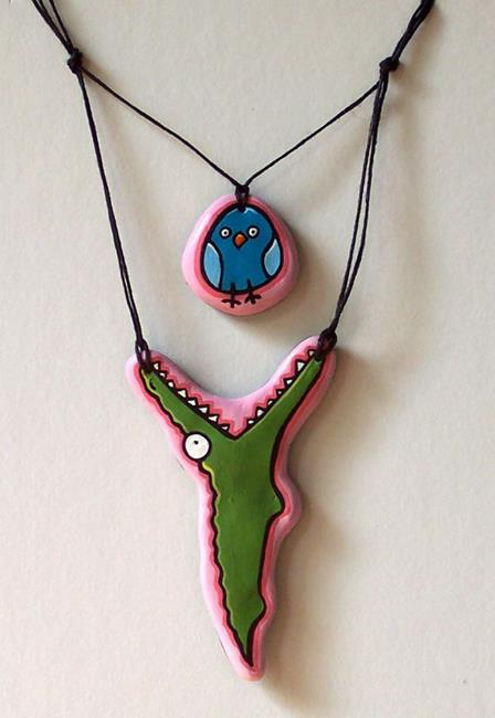 Art: Lunchtime Necklace by Artist Cary Dunlap Daly