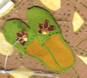 Detail Image for art Slippers & Fan