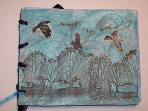 Detail Image for art As the Crow Flies Mixed Media Picture Book
