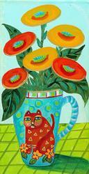 Art: Latte Cats -Sold by Artist Ke Robinson