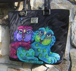 Art: Ke's Cats - Anne Klein tote bag -SOLD by Artist Ke Robinson