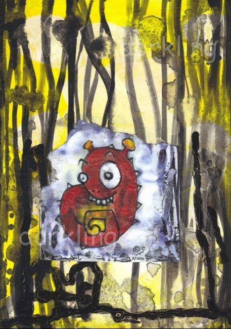 Art: Fenton - a monster by Artist Emily J White