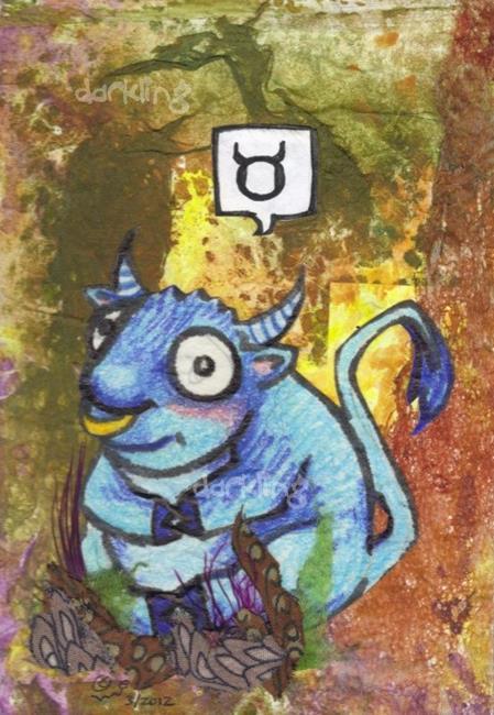 Art: Taurus zodiac monster by Artist Emily J White