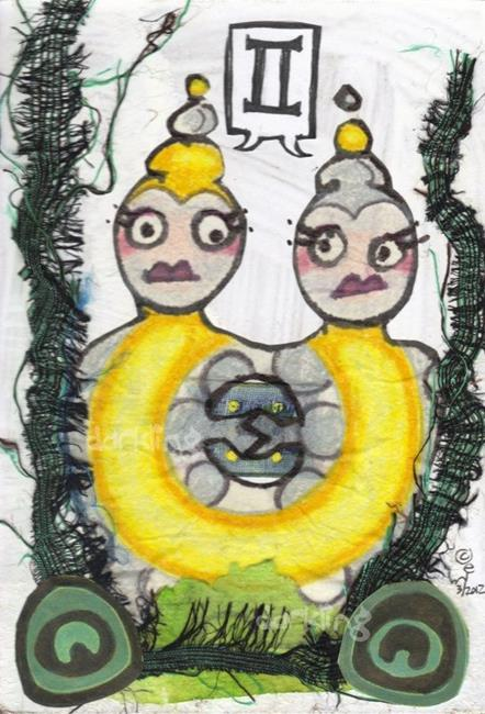 Art: Gemini zodiac monster by Artist Emily J White
