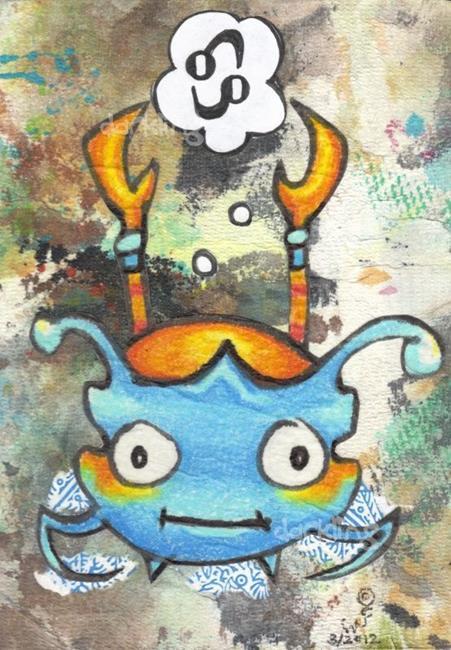Art: Cancer zodiac monster art by Artist Emily J White