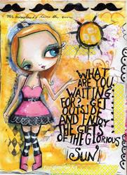 Art: she who loves the sun by Artist Betty Stoumbos