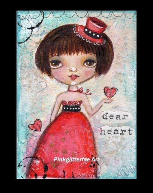 Art: Dear heart by Artist Betty Stoumbos