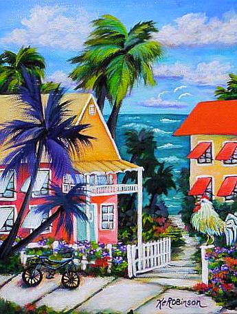 Art: Beach Walk House by Artist Ke Robinson