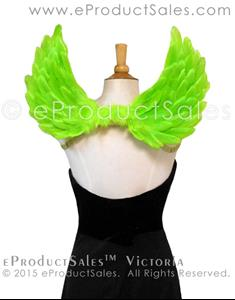 Detail Image for art eProductSales Victoria Feather Angel Wings in Kiwi Green