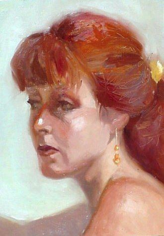 Art: Redhaired Rebecca by Artist Debra Schott