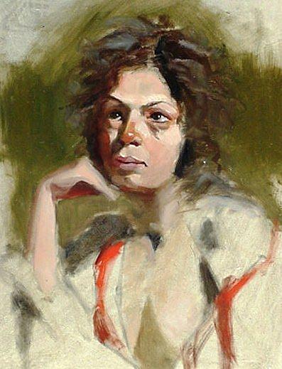Art: Study of Patty by Artist Debra Schott