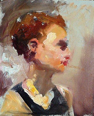 Art: Gesture portrait by Artist Debra Schott