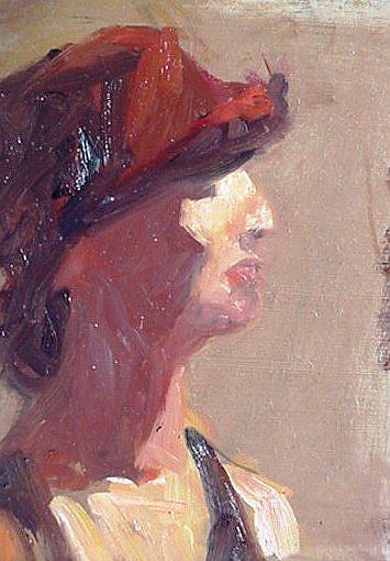 Art: Red Hat by Artist Debra Schott
