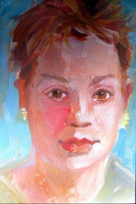 Art: Quick gesture portrait by Artist Debra Schott