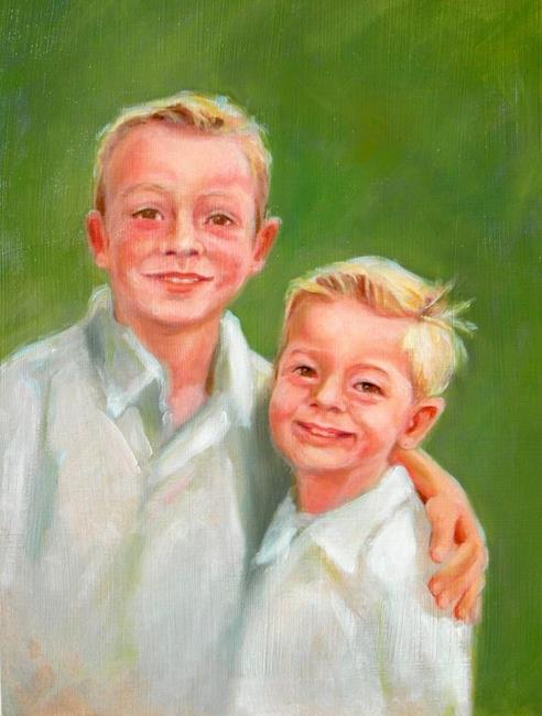 Art: Two Brothers by Artist Debra Schott