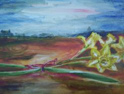 Art: Daffodils in Georgia by Artist Karina Keri-Matuszak