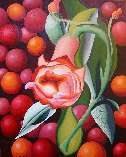 Art: Cherry Floater by Artist Laura Barat