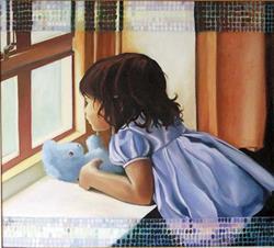 Art: Blue Teddy by Artist Muriel Areno