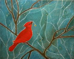 Art: Winter Cheer by Artist Elizabeth Fiedel