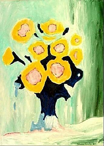 Art: Sunflowers by Artist Shane Darren Ervin