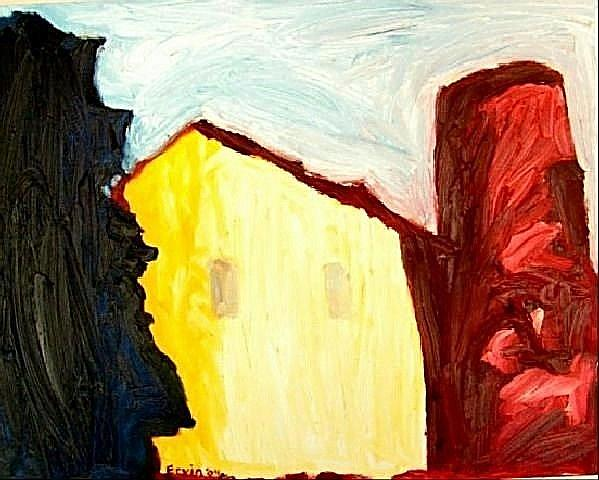 Art: Barn in Early Morning by Artist Shane Darren Ervin