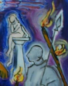 Detail Image for art Oedipus and Sphinx in the Underworld (Sphinx series)