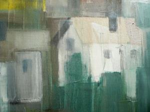 Detail Image for art Small Village - oil 28x20