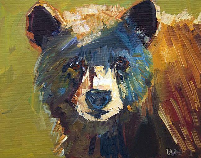 Art: Anything but Black Bear by Artist Diane M Whitehead