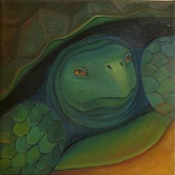 Art: Come Out! by Artist Elizabeth Fiedel