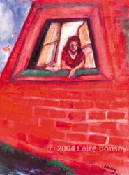 Art: Girl in WIndow 1 by Artist Caite Bonsey