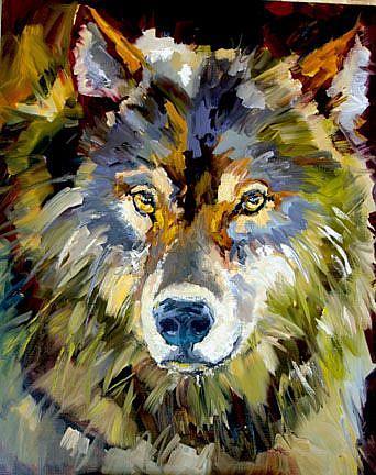 Art: wtmk2430wolflinen 1 by Artist Diane M Whitehead