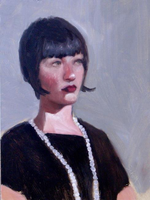 Art: Pearl Necklace by Artist Debra Schott