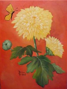 Detail Image for art Yellow Mums