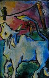 Art: bye Zeus (and thanks for the ride) [SOLD] by Artist Angie Reed Garner