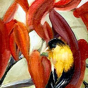 Detail Image for art Sumac and Goldfinch