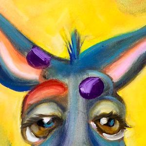 Detail Image for art Blue Kangaroo