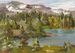 Art: Wyoming Landscape by Artist Delilah Smith