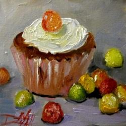 Art: Cupcake and Gumdrops by Artist Delilah Smith