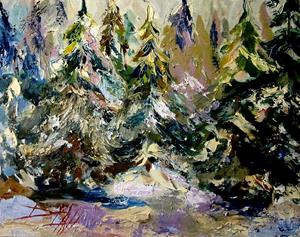 Detail Image for art Snow on the Pines