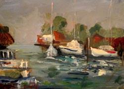 Art: Fishing Boats by Artist Delilah Smith