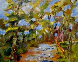 Art: Woodland Stream by Artist Delilah Smith