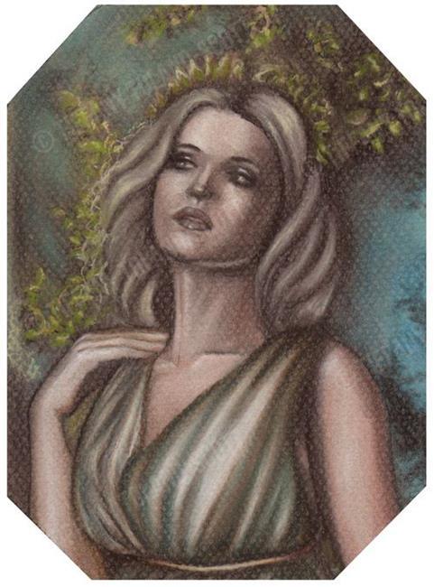 Art: The Lady of Pompeii Study by Artist Tiffany Toland-Scott