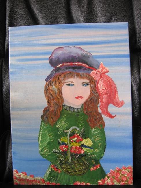 Art: Flower Girl by Artist Nata Romeo ArtistaDonna
