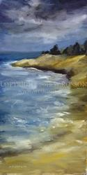 Art: Coastline by Artist Windi Rosson