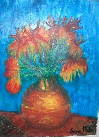 Art: Flowers on the table by Artist sara molano