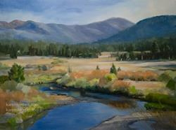 Art: Go with the Flow (Carson River Crossing, West Fork) oil painting SOLD by Artist Karen Winters