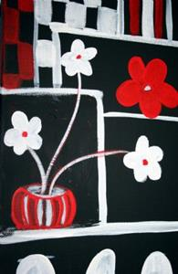Detail Image for art RED & WHITE FLOWERS-sold