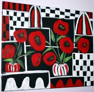 Detail Image for art RED POPPIES-sold
