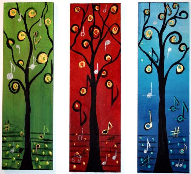 Art: LIFE SYMPHONY-sold by Artist LUIZA VIZOLI