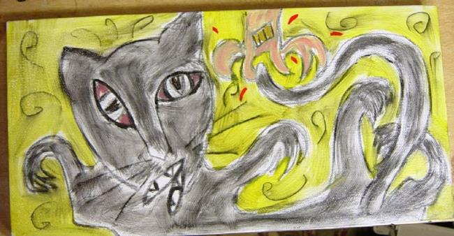 Art: Feral Cat Catch! by Artist Tracey Allyn Greene